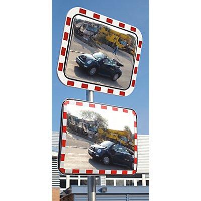 dancop Verkehrsspiegel aus Acrylglas - Polystyrol-Rahmen, rechteckig