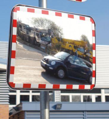Verkehrsspiegel aus Acrylglas - Ausführung rahmenlos