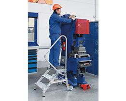 EUROKRAFT Escabeau de montage pour charges lourdes - MOBILE, force 300 kg