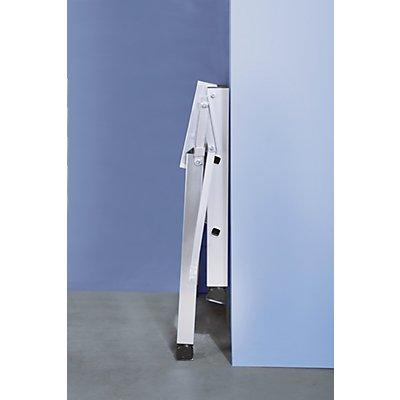 Günzburger Steigtechnik Klapp-Podest - Aluminium, Stufentiefe 80 mm