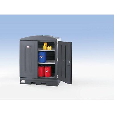 Regalset zur Kleingebinde-Lagerung, 2 Gitterrostböden Traglast je 200 kg