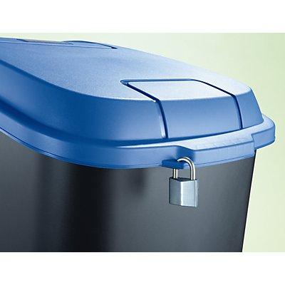 Rothopro Poubelle de tri en plastique - capacité 100 l, mobile