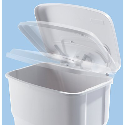 Rothopro Collecteur de déchets à pédale, en plastique - capacité 60 l