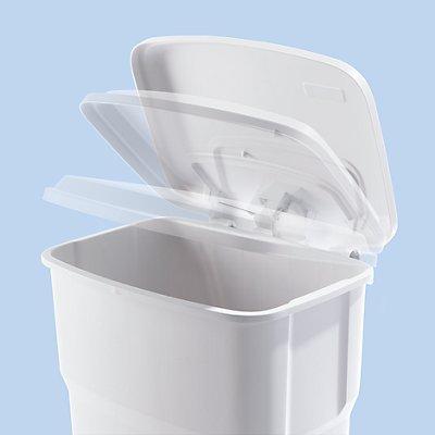 Rothopro Pedal-Abfallsammler mit 35 Liter Volumen - aus Kunststoff - schwarz