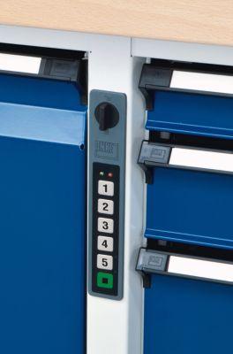 Werkbank mit XL/XXL-Schubladen - Breite 2000 mm, 8 Schubladen