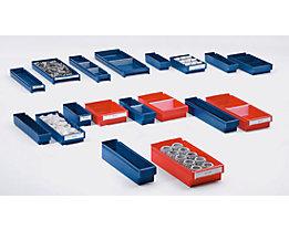 Regalkasten aus lebensmittelechtem Polypropylen - rot - LxBxH 500 x 230 x 100 mm, VE 9 Stk
