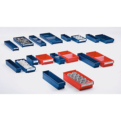 Regalkasten aus lebensmittelechtem Polypropylen - blau