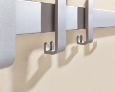 Sicherheits-Wandgarderobe - Einzelgarderobe - BxH 950 x 190 mm