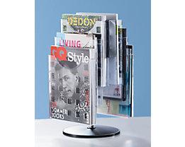 helit Présentoir de table - rotatif, 2 x 3 casiers