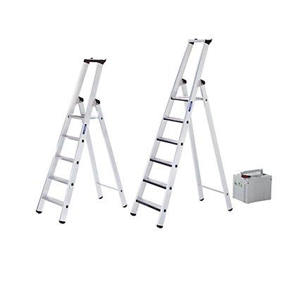 Günzburger Steigtechnik Stufen-Stehleiter, einseitig - Ausführung gepolstert - 3 Stufen