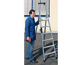 Stufen-Stehleiter, einseitig - Komfort-Ausführung mit ergo-pad®