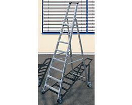 Stufen-Stehleiter, einseitig - Ausführung mobil