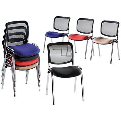 topstar polster stapelstuhl mit netz r ckenlehne. Black Bedroom Furniture Sets. Home Design Ideas