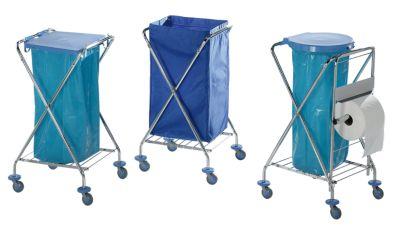 Hygiene-Abfallsammler - mit Gummiring zur Abfallsackbefestigung, für 1 x 120-l-Sack