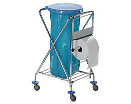 Hygiene-Abfallsammler - mit Gummiring zur Abfallsackbefestigung