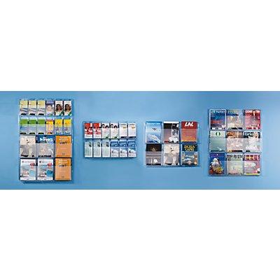 helit Wanddisplay - Fächeranzahl x Format 6 x DIN A4, 12 x 1/3 DIN A4 - HxBxT 1143 x 762 x 51 mm