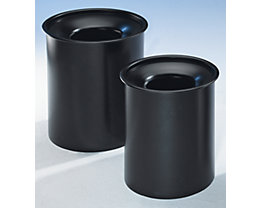 Collecteur de déchets PREMIUM auto-extinguible - en tôle d'acier