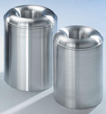 Abfallsammler PREMIUM, selbstlöschend - aus Aluminium