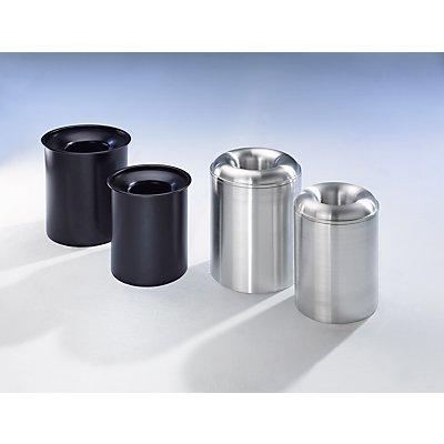 Abfallsammler PREMIUM, selbstlöschend - aus Stahlblech
