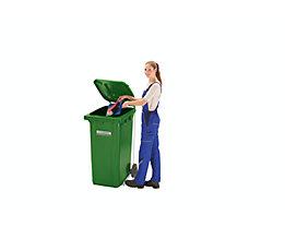 SSI Schäfer Pedal-Deckelöffner - für 80/120-Liter-Mülltonne - verzinkt