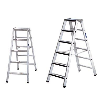 Günzburger Steigtechnik Stufen-Stehleiter, beidseitig - Standard-Ausführung