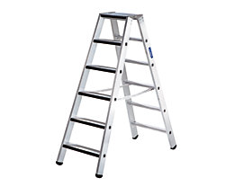 Stufen-Stehleiter, beidseitig - Ausführung gepolstert