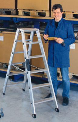Stufen-Stehleiter, beidseitig - Komfort-Ausführung mit ergo-pad®