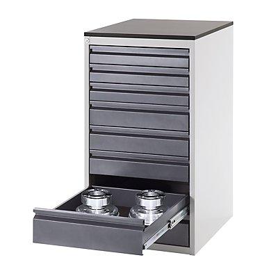 RAU Werkzeugschrank, Tiefe 650 mm - Höhe 820 mm, Schubladen 2 x 120, 2 x 150, 1 x 180 mm