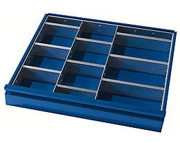 Schubladeneinteilung - 2 Trennwände, 9 Steckwände - für Schubladenhöhe 180 – 270 mm