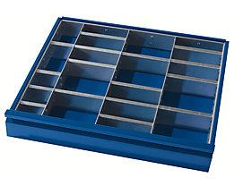 Schubladeneinteilung - 3 Trennwände, 12 Steckwände - für Schubladenhöhe 60 + 90 mm