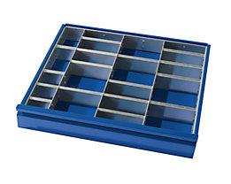 RAU Schubladeneinteilung - 3 Trennwände, 12 Steckwände - für Schubladenhöhe 120 + 150 mm