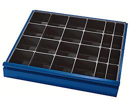 Schubladeneinteilung - 24 Kleinteilekästen - für Schubladenhöhe 60 + 90 mm