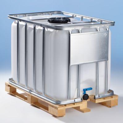 IBC Transport- und Lagertank auf Holzpalette - Inhalt 600 Liter