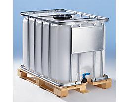 IBC Transport- und Lagertank auf Holzpalette - Inhalt 800 Liter