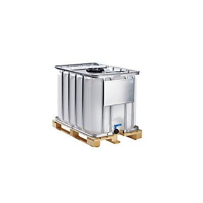 WERIT IBC Transport- und Lagertank auf Holzpalette - Inhalt 800 Liter, Gefahrgutausführung