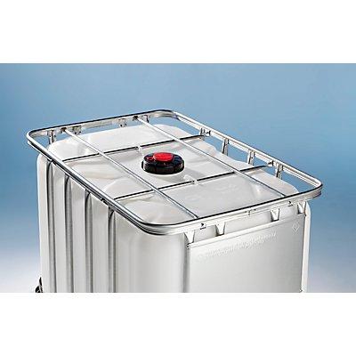 WERIT IBC Transport- und Lagertank auf Kunststoffpalette - Inhalt 600 Liter