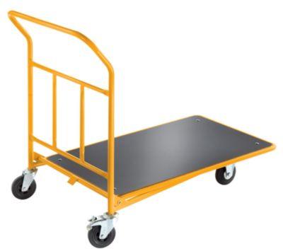 QUIPO Plattform-CC-Wagen mit Schiebebügel - ohne Geländer, Tragfähigkeit 200 kg