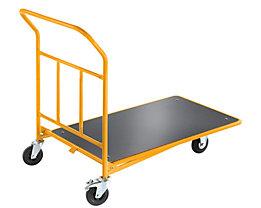 QUIPO Plattform-CC-Wagen mit Schiebebügel - ohne Geländer