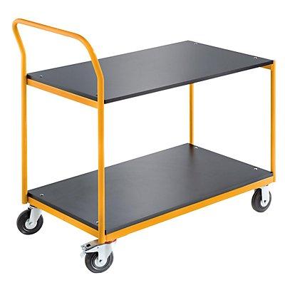 QUIPO Industrie-Tischwagen - 2 Ladeflächen LxB 1030 x 600 mm, Tragfähigkeit 150 kg