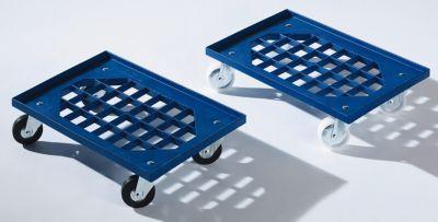 Transportroller aus ABS-Kunststoff - Gitterladefläche 605 x 410 mm