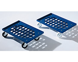Rouleur simple en plastique ABS - dimensions tablette grillagée 605 x 410 mm