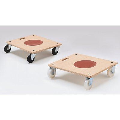 Möbelroller mit Tragegriff, VE 2 Stk - mit integriertem Rutsch-Stopp