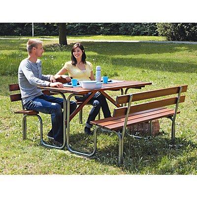 Gruppensitzbank - Tisch und 2 Sitzbänke, Gesamt-LxT 1000 x 1800 mm