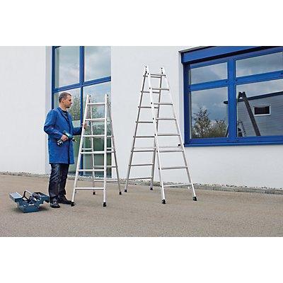 Günzburger Steigtechnik Sicherheits-Sprossenleiter, beidseitig begehbar - Sprossen 30 x 30 mm, rutschsicher