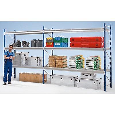 Schwerlast-Großfachregal - mit Drahtgitterauflagen-Modulen