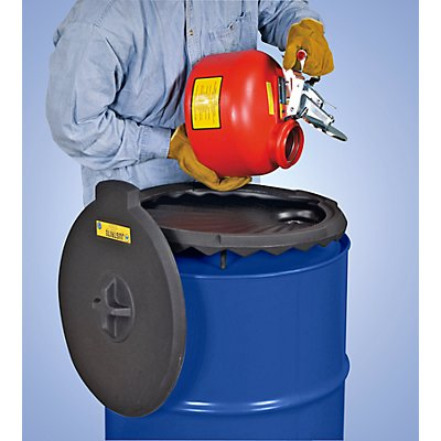 Fasstrichter aus PE - für aggressive nicht brennbare Flüssigkeiten, ohne Flammsperre