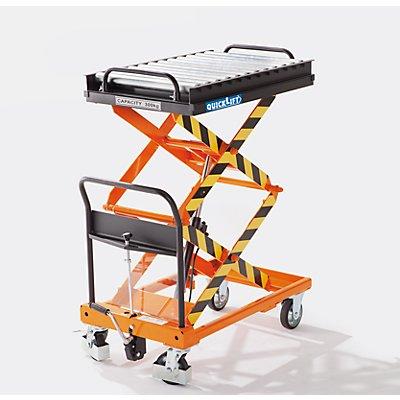 Transporteur à rouleaux - pour plate-forme L x l 900 x 600 mm - Ø rouleaux 50 mm