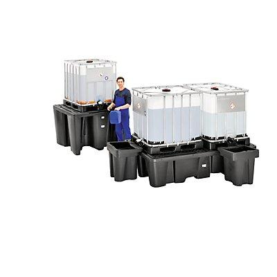 PE-Auffangwanne für Tankcontainer IBC/KTC - Kapazität 1 Container, Länge 1450 mm