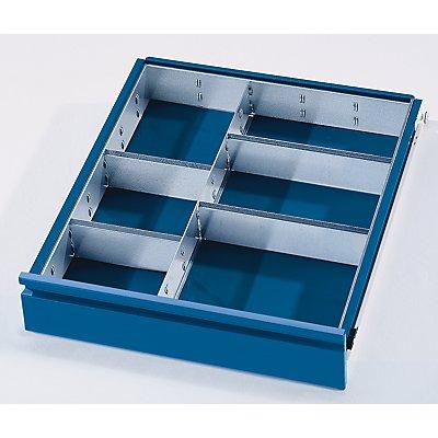 Schubladeneinteilungs-Set - 1 Trennwand, 4 Steckwände