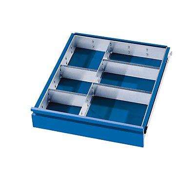 Schubladeneinteilungs-Set - 1 Trennwand, 4 Steckwände - für Schubladenhöhe 180 – 270 mm